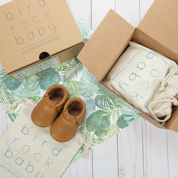 Classic Brown Baby Moccasins 1