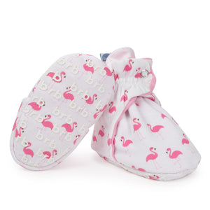 Flamingo Cotton Baby Booties