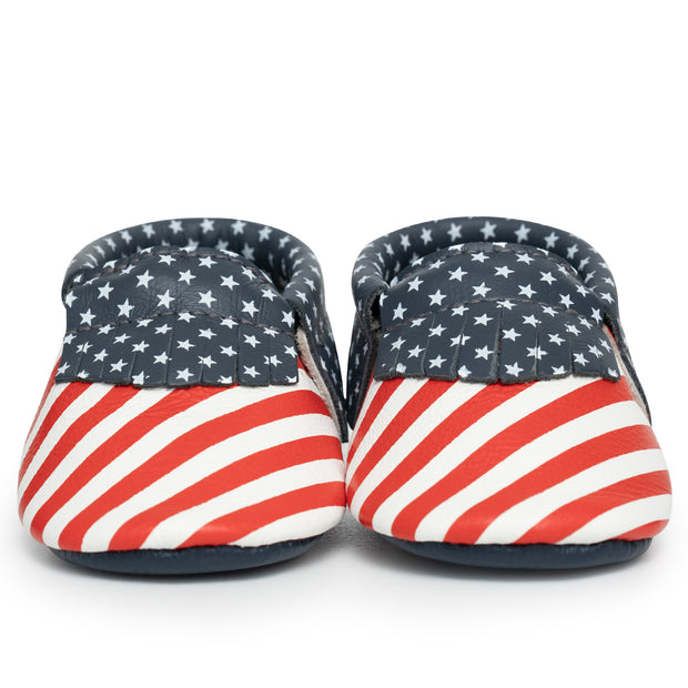 Stars and Stripes Baby Moccasins 1