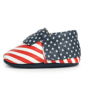 Stars and Stripes Baby Moccasins