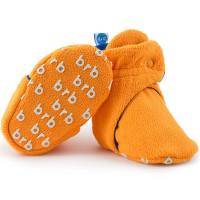 Bronco Orange Fleece Baby Booties