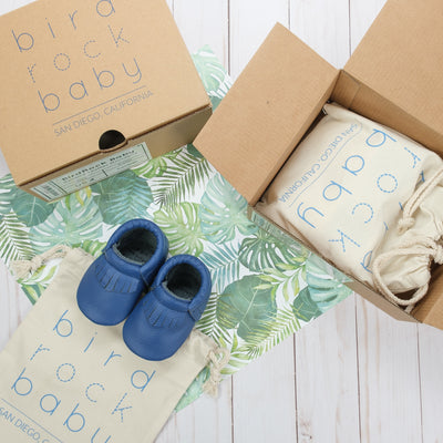 Royal Blue Baby Moccasins