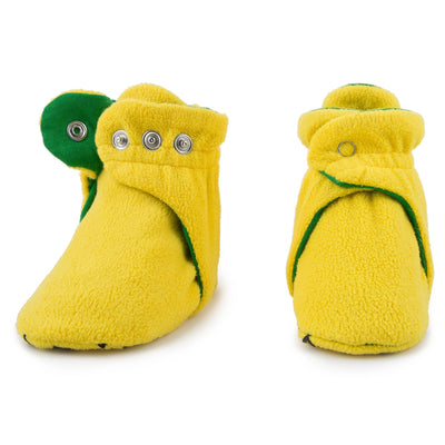 Lemon Lime Baby Booties