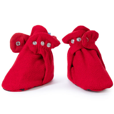 Cherry Red Baby Booties