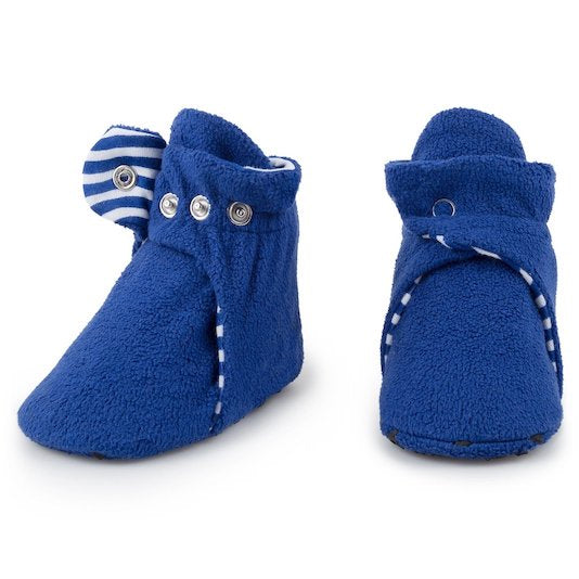 Anchor Blue Fleece Booties