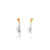HSU gold plated sterling silver Pearl curve dropping earring  (UL19)