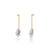 Unfinishing Line gold Long line sterling silver earring baroque Pearl (UL19)