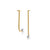 Unfinishing Line gold extended line sterling silver Pearl earring   (UL19)