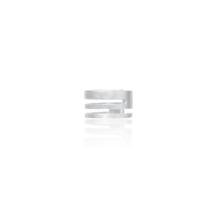 Unfinishing Line   triple line sterling silver ear cuff  (UL19)