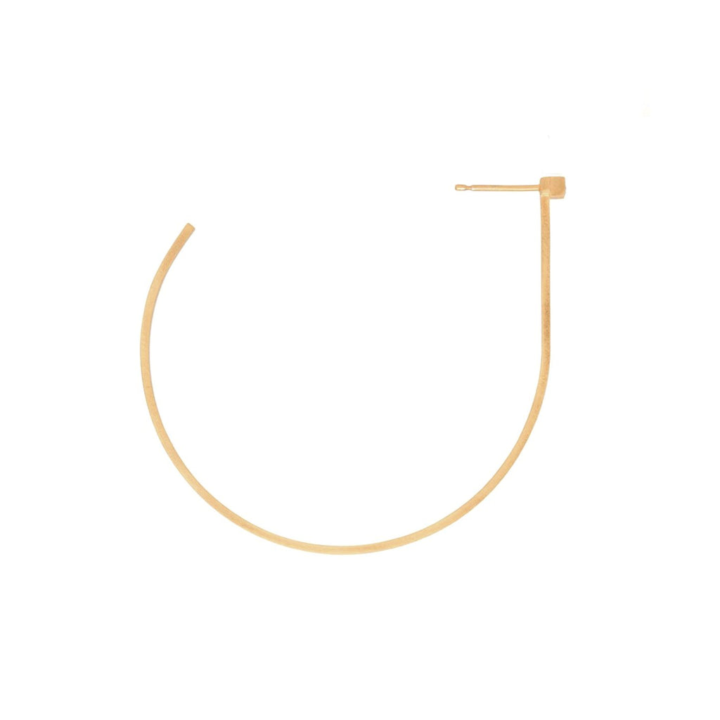 Unfinishing Line   sterling silver hoop gold sapphire earring  (UL19)