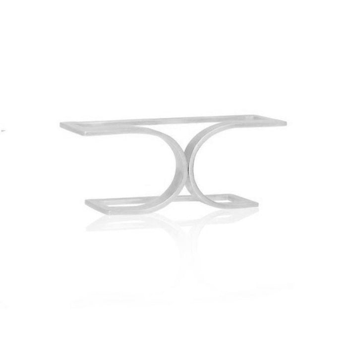 Unfinishing Line  double line sterling silver double ring  (UL)