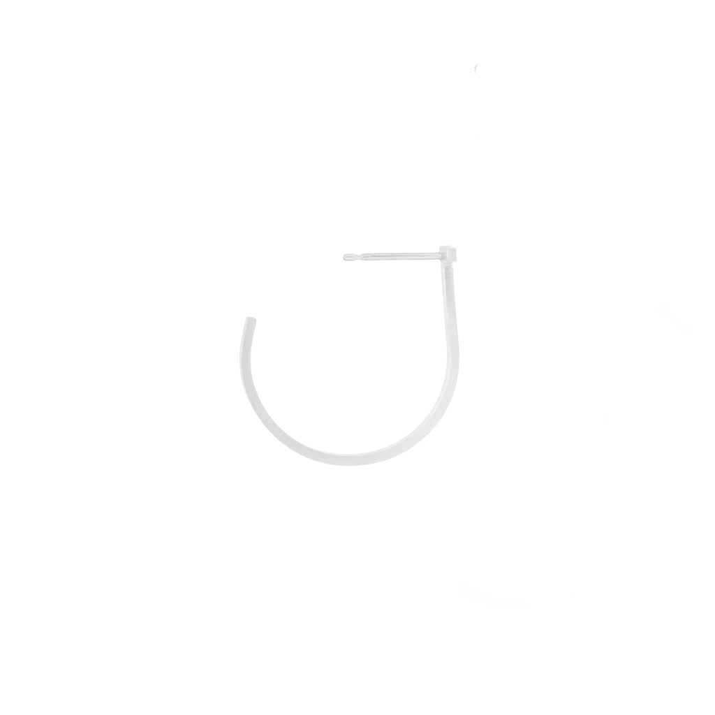 Unfinishing Line   hoop sterling silver earring / Medium (UL19)