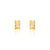 Unfinishing Line   sterling silver triple lines gold sapphire earring  (UL19)
