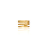 (A) HSU triple lines silver gold plated ear cuff  (UL19)