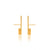 Unfinishing Line   Gold perspective sterling silver earring / short  (UL11)(UL19)