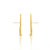 Unfinishing Line   sterling silver perspective gold sapphire earring  (UL19)