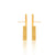 Unfinishing Line   Gold perspective sterling silver earring / Long  (UL19)