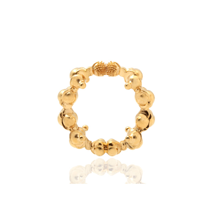 Touching The Invisible Textured Ring Silver Goldpleated Ring (TI)