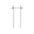 Pearl Long line Extension Silver Earring (MM)
