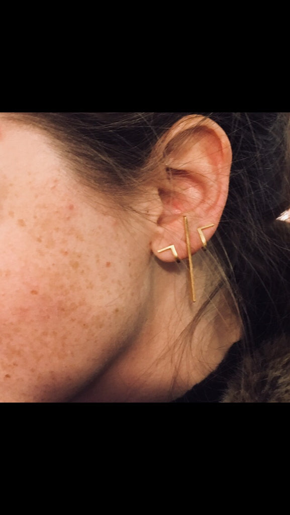 Perspective Long Earring / Gold (UL)