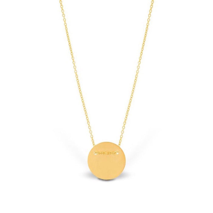 Making Marks Silver Disk Gold Necklace (MM)