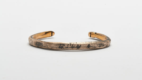 ETCHED MIXED METAL BUCK CUFF (LARGE)
