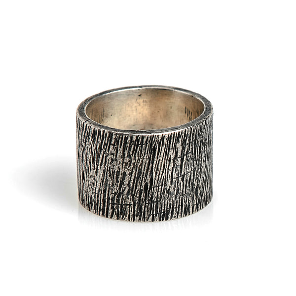 OXIDIZED TUBE RING