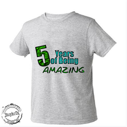 5 years of being Amazing, Kids shirt, short sleeved