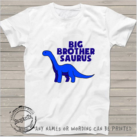 Big brother saurus , Dinosuar shirt, boys shirt