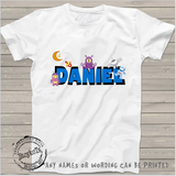 Daniel space characters theme, kids shirt, boys