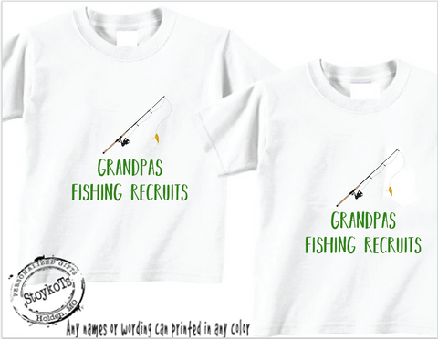 Grandpa's fishing recruites