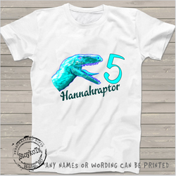 Hannahraptor, Dinosuar shirt, girls shirt