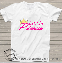 Little princess, personalized, girls shirt