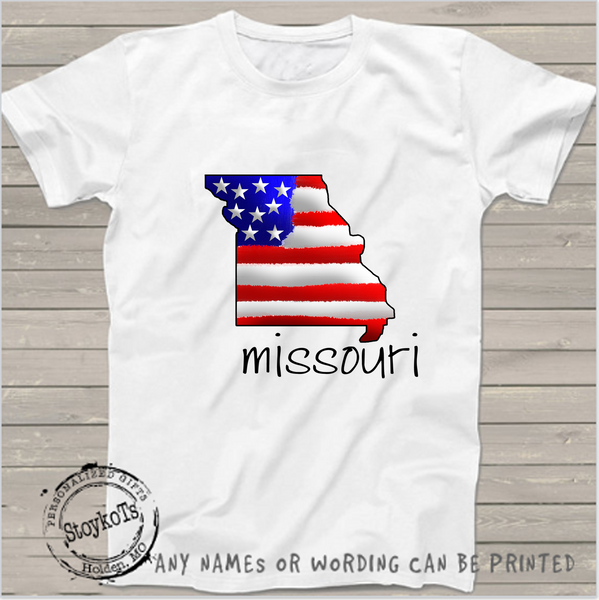 Missouri state, American flag , 4th of July shirts Independence Day Personalized shirt