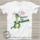 Valentines Day Shirt, Mommy's little Dragon, kids shirts, personalized