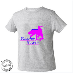 Raptor sister , Dinosuar shirt, Girls shirt