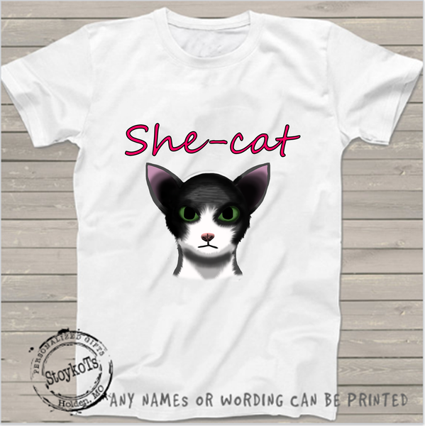 She-Cat, Cat shirt, girls shirt
