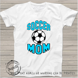 Soccer MOM, personalized, white womens shirt
