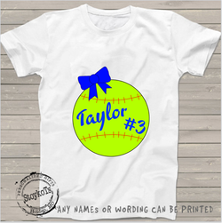 Softball, Taylor #3, Softball shirt, girls shirt
