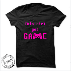 This girl got game, personalized, girls shirt
