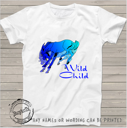 Wild child, horse shirt, Kids shirt