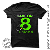 Gamer Birthday shirt, Personalized Game on t-shirt for any birthday, gamer party truck