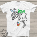 Easter dino shirt, dinosaur shirts for kids, funny easter t-shirt for boys or girls