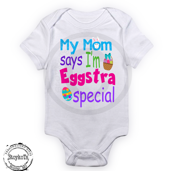 Easter shirts for babies, kids, Personalized first Easter baby bodysuit,
