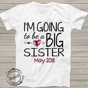 Valentines Day Big Sister Shirt, Pregnancy Announcement Personalized Heart  Grunge T Shirt, Only
