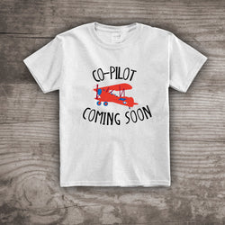 Baby Announcement shirt new baby co pilot t-shirt airplane shirt Maternity Personalized tops & tees t-shirts kids youth clothing
