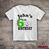 Soccer birthday shirt for kids, personalized