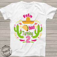 Taco Twosday 2nd Birthday fiesta shirt, personalized shirts for boys or girls, kids t-shirt, second bday