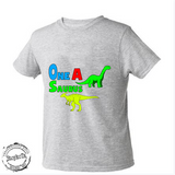 One a saurus, Dinosuar shirt, kids shirt