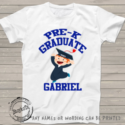 Pre-k Graduate shirt, preschool shirts for boys, personalized with any grade or name